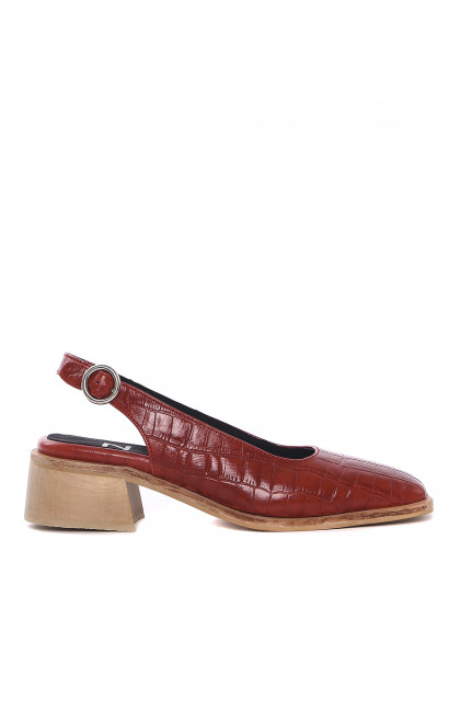 Lazaro Zapatos Maui croco cherry
